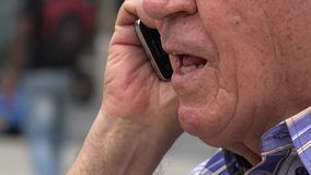 Angry Cell Phone Call stock footage