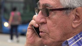Angry Cell Phone Call stock video footage