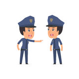 Angry Character Constabulary abuses and accuses his companion Royalty Free Stock Images