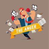 Angry character. stressful concept -  Stock Images