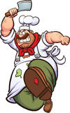 Angry chef Stock Photo