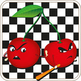Angry cherries Stock Image