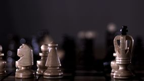 Angry chess stock video footage