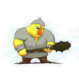 Angry chicken warrior Stock Image