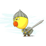 Angry chicken warrior Royalty Free Stock Photography