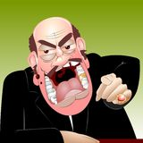 Angry chief royalty free stock photography
