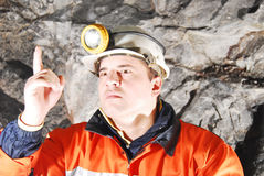 Angry chief miner Stock Image