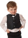 Angry child. Dressed up and mad Stock Image