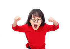 Angry child stock images