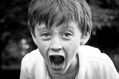 Angry child Stock Photos