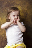 Angry child Royalty Free Stock Photo