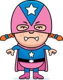 Angry Child Superhero Stock Photography