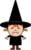 Angry Child Witch Royalty Free Stock Image