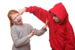 Angry children Stock Images