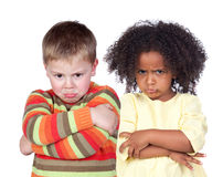 Angry children Royalty Free Stock Image