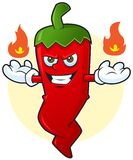 Angry chili Royalty Free Stock Photography
