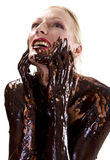 Angry chocolate Royalty Free Stock Photo