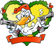 Angry christmas duck Royalty Free Stock Image