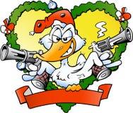Angry christmas duck Royalty Free Stock Image