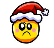 Angry Christmas Emoticon vector illustration