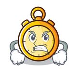 Angry chronometer character cartoon style Royalty Free Stock Images