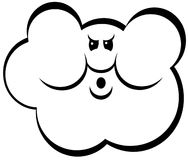 Angry Cloud Cartoon Vector Clipart Stock Images