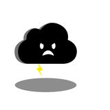 Angry cloud. Digital drawing of a angry cloud Royalty Free Stock Images