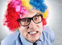 Angry clown Stock Photo