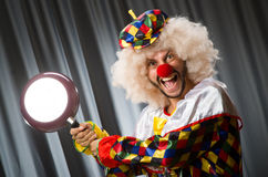 Angry clown Royalty Free Stock Images