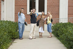 Angry College Students on Campus Stock Photos
