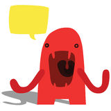Angry Complaining Monster Royalty Free Stock Images