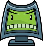 Angry Computer vector illustration