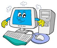 Angry computer stock illustration