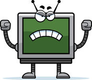 Angry Computer Monitor Stock Photography