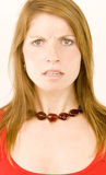 Angry/concerned woman Stock Image
