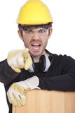 Angry Construction Worker Stock Images