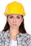 Angry construction worker Royalty Free Stock Photos