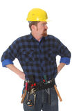 Angry construction worker Stock Image