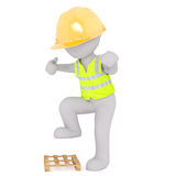 Angry construction worker Royalty Free Stock Photography