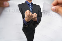 Angry when contract being cancelled Stock Photography
