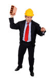 Angry contractor Royalty Free Stock Images