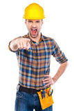Angry contractor. Royalty Free Stock Photos