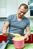 Angry cook and ruined recipe Stock Photography