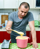 Angry cook and ruined recipe Royalty Free Stock Photography