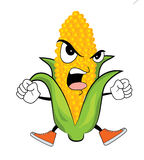 Angry corn cartoon Stock Image