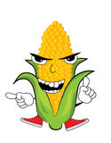 Angry corn cartoon Royalty Free Stock Image