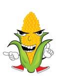 Angry corn cartoon Royalty Free Stock Image