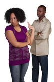 Angry Couple. Angry mad black couple fighting Royalty Free Stock Images