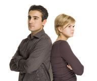 Angry couple Royalty Free Stock Image