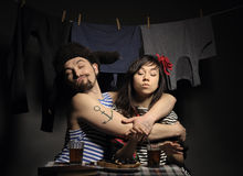 Angry couple. Royalty Free Stock Images